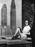 Sunbathing in a Highrise in New York Fotografie-Druck