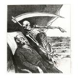 Le Cauchemar De Bismarck: La Mort: 'Merci', Bismarck's Nightmare, 1870 Giclee Print by Honore Daumier