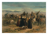 Mary Stuart and the Dying Douglas Lámina giclée por Giovanni Fattori