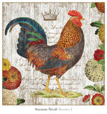 Rooster I Print by Suzanne Nicoll
