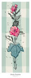 Hollyhock II Posters by Ouida Touchon