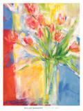 Tulips At 480 (Blue) Posters by Kellar Mahaney