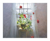 Red Geraniums (small) Poster by Peter   Poskas