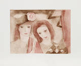 Two Women Samlartryck av Marie Laurencin