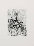 El Cid Collectable Print by Salvador Dali