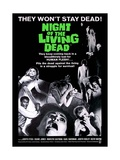 Night of the Living Dead Movie Poster Lámina