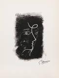 Profil de Femme from Souvenirs de Portraits d'Artistes. Jacques PrŽvert: Le Coeur Samletrykk av Georges Braque