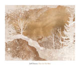 Deer In The Mist Print by Jeff Friesen