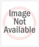 Nude Couple in Bed With Handcuffs Kunstdrucke von  Pop Ink - CSA Images