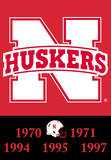 NCAA Nebraska Cornhuskers 2-Sided Championship Years Banner with Pole Sleeve Flag