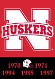 NCAA Nebraska Cornhuskers 2-Sided Championship Years Banner with Pole Sleeve Flag