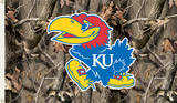NCAA Kansas Jayhawks Camo Flag with Grommets Novelty