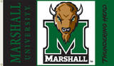 NCAA Marshall Thundering Herd Flag with Grommets Novelty