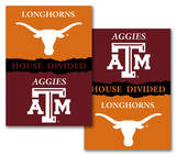 NCAA Texas - Texas A & M 2-Sided House Divided Rivalry Banner Flag