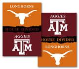 NCAA Texas - Texas A & M 2-Sided House Divided Rivalry Banner Bandera