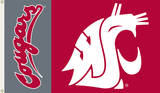NCAA Washington State Cougars Flag with Grommets Flag