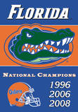 NCAA Florida Gators 2-Sided Championship Years Banner with Pole Sleeve Flag