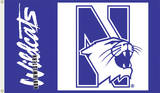 NCAA Northwestern Wildcats Flag with Grommets Flag