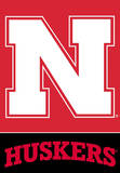 NCAA Nebraska Cornhuskers 2-Sided House Banner Flag