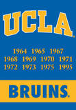 NCAA Ucla Bruins 2-Sided Championship Years Banner with Pole Sleeve Wall Scroll