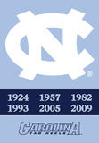 NCAA North Carolina Tar Heels 2-Sided Championship Years Banner with Pole Sleeve Flag