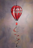 NCAA Ohio State Buckeyes Hot Air Balloon Spinner Novelty