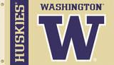 NCAA Washington Huskies Flag with Grommets Bandera