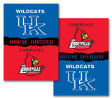 NCAA Kentucky - Louisville 2-Sided House Divided Rivalry Banner Flag