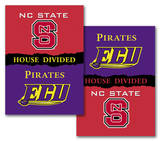 NCAA NC State - East Carolina 2-Sided House Divided Rivalry Banner Flag