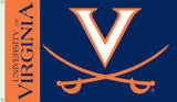 NCAA Virginia Cavaliers Flag with Grommets Flag