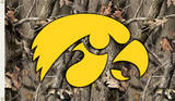 NCAA Iowa Hawkeyes Camo Flag with Grommets Novelty