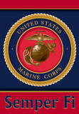 U.S. Marine Corps 2-Sided House Banner Flag
