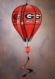 NCAA Georgia Bulldogs Hot Air Balloon Spinner Novelty