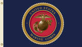 U.S. Marine Corps Flag with Grommets Flag
