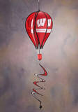 NCAA Wisconsin Badgers Hot Air Balloon Spinner Novelty