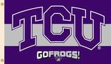 NCAA Texas Christian Horned Frogs Flag with Grommets Novelty