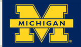 NCAA Michigan Wolverines Flag with Grommets Novelty