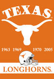 NCAA Texas Longhorns 2-Sided Championship Years Banner with Pole Sleeve Flag