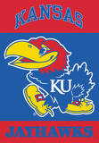 NCAA Kansas Jayhawks 2-Sided House Banner Flag