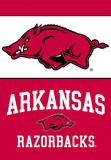 NCAA Arkansas Razorbacks 2-Sided House Banner Flag