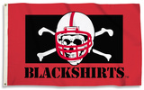 NCAA Nebraska (Blackshirts) Flag with Grommets Flag