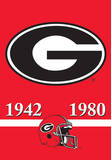 NCAA Georgia Bulldogs 2-Sided Championship Years Banner with Pole Sleeve Flag