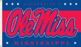 NCAA Mississippi Rebels Flag with Grommets Flag