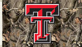 NCAA Texas Tech Red Raiders Camo Flag with Grommets Flag