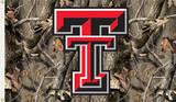 NCAA Texas Tech Red Raiders Camo Flag with Grommets Flag