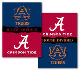 NCAA Alabama - Auburn 2-Sided House Divided Rivalry Banner Flag