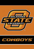 NCAA Oklahoma State Cowboys 2-Sided House Banner Flag
