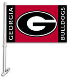 NCAA Georgia Bulldogs Car Flag with Wall Bracket Flag