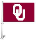 NCAA Oklahoma Sooners Car Flag with Wall Bracket Flag
