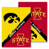 NCAA Iowa - Iowa State 2-Sided House Divided Rivalry Garden Flag Flag